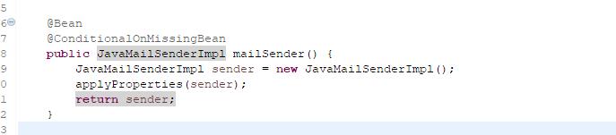 JavaMailSenderImpl