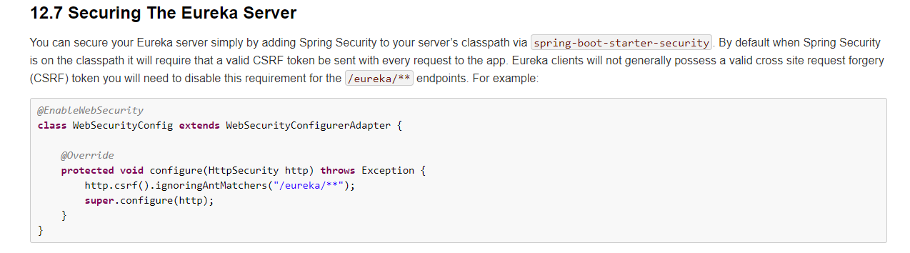 Securing The Eureka Server